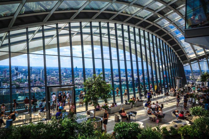 ロンドンのおすすめ観光スポット スカイガーデン ウォーキー・トーキー Walkie Talkie