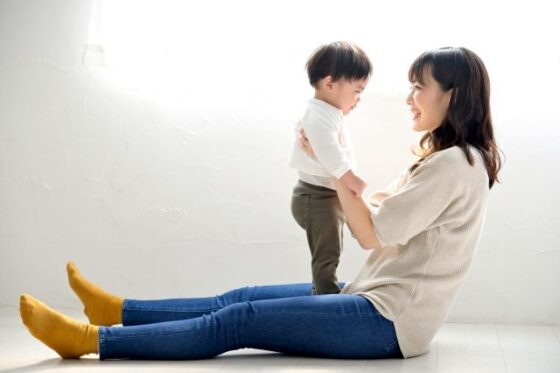 日本人の親子