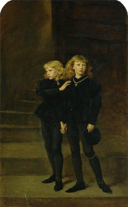 ロンドン塔 エドワード5世 リチャード The Princes in the Tower 塔の中の王子たち(ジョン・エヴァレット・ミレー