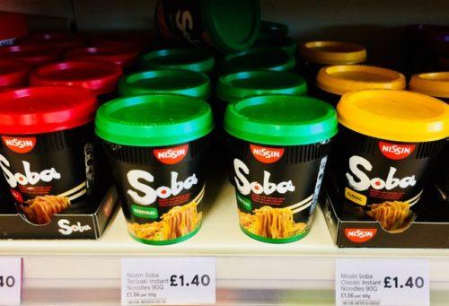 日清SOBA カップ麺 イギリス